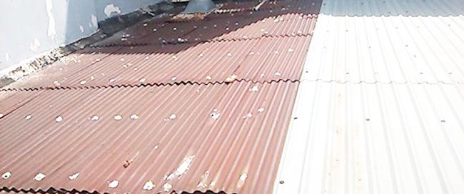 sửa chữa mái tôn