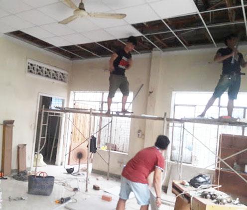 Quy trình làn việc của dịch vụ thi công trần vách thạch cao tại Thuận An