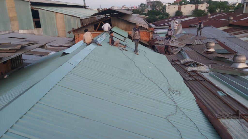 sửa chữa mái tôn Đăng Linh Phát