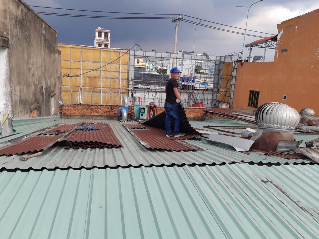 thợ sửa mái tôn tại TPHCM
