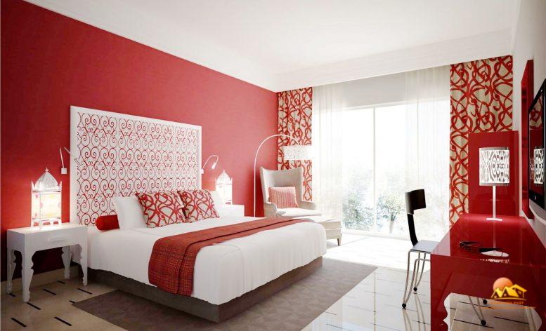 Màu sơn phòng ngủ theo phong thủy mệnh Hỏa